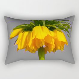 CONTEMPORARY GOLDEN YELLOW CROWN IMPERIAL FLOWERS Rectangular Pillow