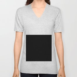 Color Block-Black and White Unisex V-Neck
