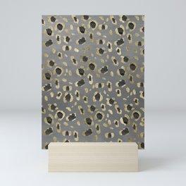 Leopard Animal Print Glam #4 #shiny #pattern #decor #art #society6 Mini Art Print