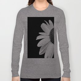 Half Daisy in Black and White Long Sleeve T-shirt