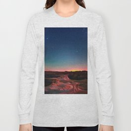 Bisti Badlands Hoodoos Under New Mexico Stary Night Long Sleeve T-shirt