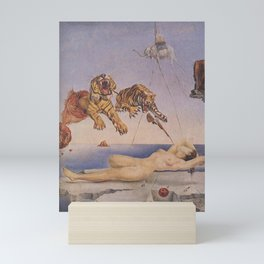 Dream Caused by the Flight of a Bee Around a Pomegranate a Second Before Awakening by Salvador Dali Mini Art Print