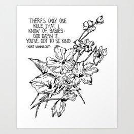 Vonnegut Kind Print Art Print