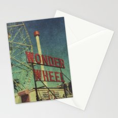 Wonder Wheel at Coney Island luna park, New York,  scaned sx-70 Polaroid Stationery Cards