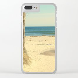 Pathway To The Sea Clear iPhone Case