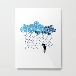Marble rain Metal Print