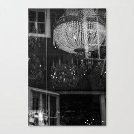 Silhouettes Mingle Canvas Print