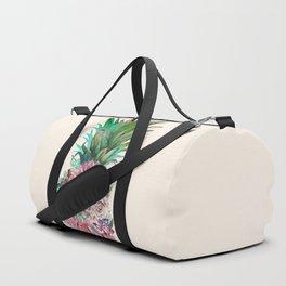 Floral Pineapple Duffle Bag