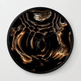 Copper and Silver Abstract  Wall Clock