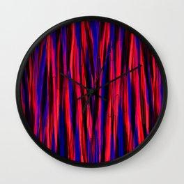 Wave Stripes Pattern Wall Clock