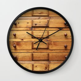 Wooden cabinet with drawers Wall Clock