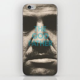 The Godfather, minimalist movie poster, Marlon Brando, Al Pacino, Francis Ford Coppola gangster film iPhone Skin