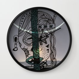 Indian Moon Wall Clock