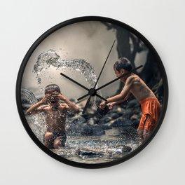 children playing Wall Clock