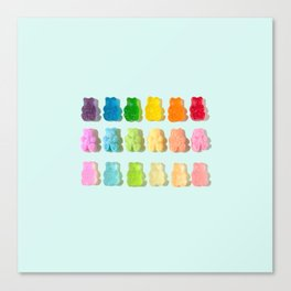 Gummi Bear Rainbow Canvas Print