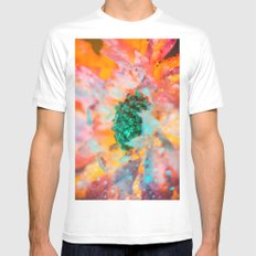 Dewy Flower Petals MEDIUM Mens Fitted Tee White