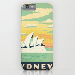Vintage poster - Sydney iPhone Case