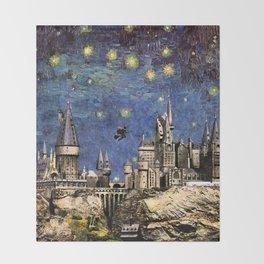 Hogwarts Starry Night Throw Blanket