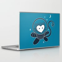 space cat Laptop & iPad Skins featuring Space Cat by Compassion Collective