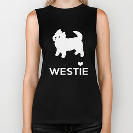 Cute Little Westie Biker Tank