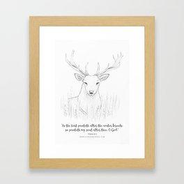 Psalm 42:1 Stag Framed Art Print