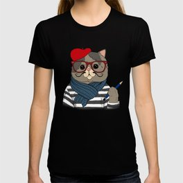 French Cat T-shirt