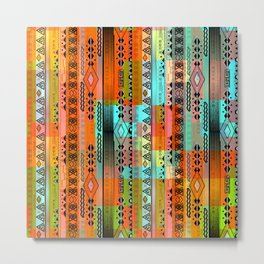 Abstraction. The rainbow pattern. 1 Metal Print