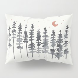 Nighttime Watercolor Forest Pillow Sham