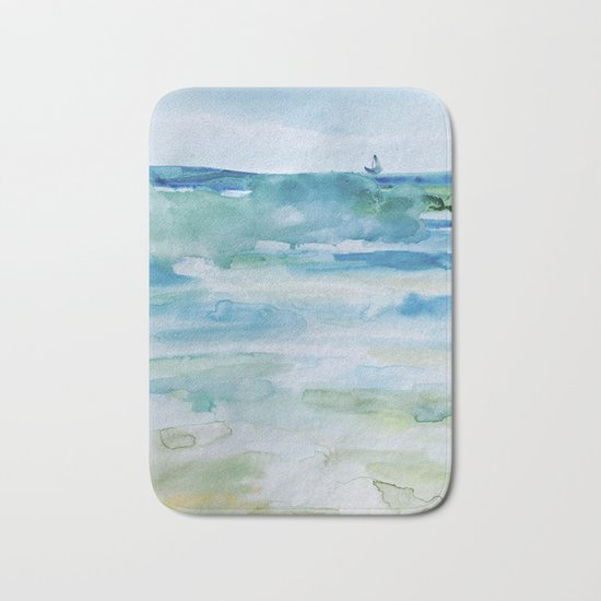 Miami Beach Watercolor #1 Bath Mat