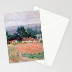 Haystacks at Giverny by Claude Monet Stationery Cards