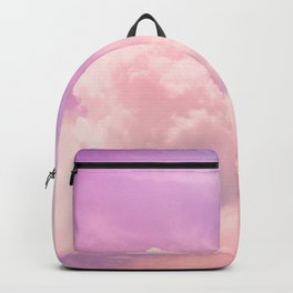 Pink And Purple Fluffy Colorful Clouds Cotton Candy Texture Backpack
