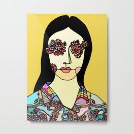 I See Flowers Metal Print