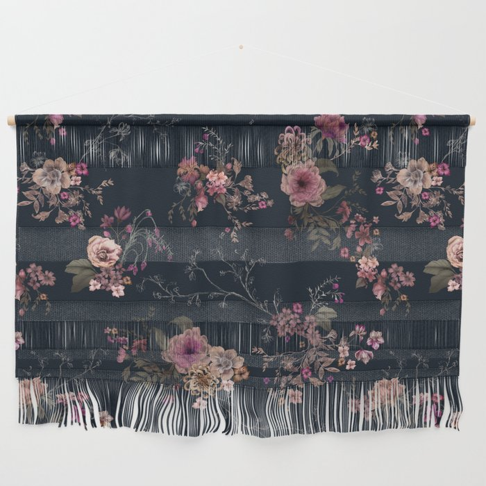 Japanese Boho Floral Wall Hanging