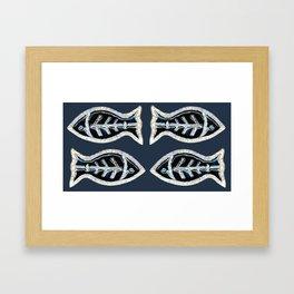 Ceramic Fishes Framed Art Print