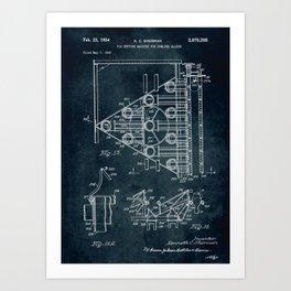 1947 - Pin setting machine for bowling alleys patent art Art Print