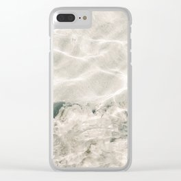 Clear water   beach fine art photography   sea wave and sand Clear iPhone Case
