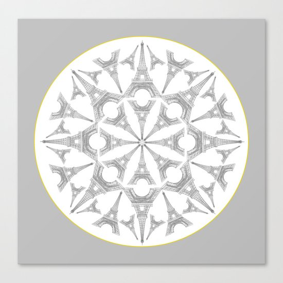 Paris in a Kaleidoscope Canvas Print
