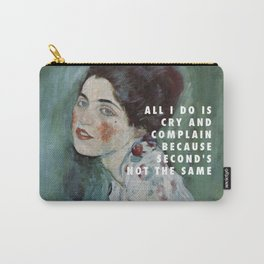 Gustav Klimt, Porträt einer Dame (1916-1917) / Halsey, Is There Somewhere (2014) Carry-All Pouch