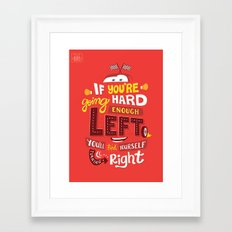 Go Hard Enough Left Framed Art Print