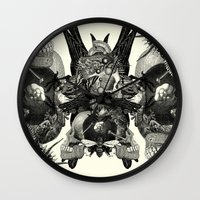 totem Wall Clocks featuring Totem by DIVIDUS