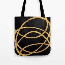 Golden Arcs - Abstract Tote Bag