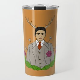 Frida Khalo Antlers and Arrows Travel Mug