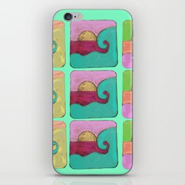 waves hot curl iPhone Skin