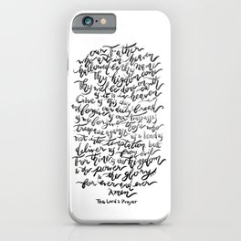 The Lord's Prayer - BW iPhone Case