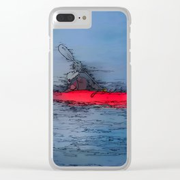 Wilderness Kayaker Clear iPhone Case