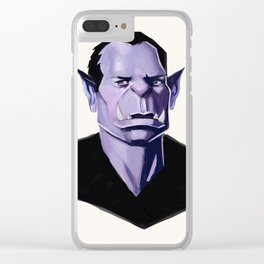 Vampire Portrait Clear iPhone Case