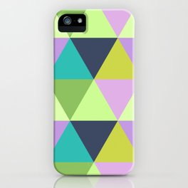 Light harlequin pastel quilt pattern iPhone Case