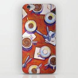 The Get Together ... Kitchen Coffee Cup Art iPhone Skin