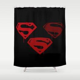 Three Supermen Shower Curtain