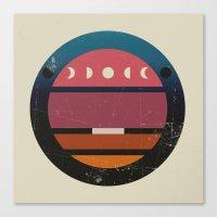lunar Canvas Prints featuring Lunar by Trent Kühn